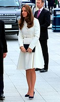 Kate Middleton, The Duchess of Cambridge who is 7 months pregnant arrives at a reception at the Spinnaker Tower. Featuring: Catherine, Duchess of Camb...