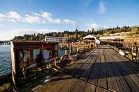 Pier of Dollarton Ship Yard, North Vancouver, British Columbia, Canada