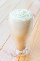 Iced coffee frappe