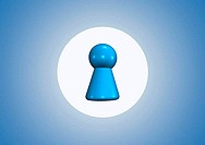team symbol on blue background