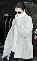 Kendall Jenner out and about in Manhattan wearing an oversized grey cardigan Featuring: Kendall Jenner Where: New York City, New York, United States W...