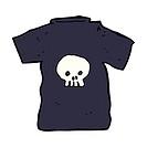 cartoon skull tee