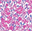 Vibrant field flowers seamless pattern background