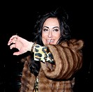 Nancy Dell'Olio wears a mink coat at W36 restaurant in Notting Hill Featuring: Nancy Dell'Olio Where: London, United Kingdom When: 06 Mar 2015 Credit:...