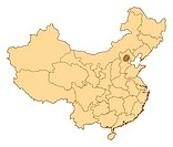 Map of China, Beijing highlighted