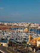 Yacht marina in Portimao. Algarve, Portugal
