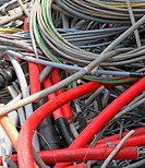 many obsolete electrical cables and copper cables in a container 2