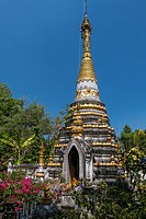 Wat Sri Rong Muang, Burmese Temple, Lampang, Northern Thailand, Thailand, Asia.