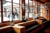 modern wooden interior at Alpine ski resort