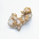 Gold in quartz groundmass, close-up