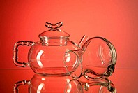 Teapot and creamer