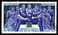 Hugues Capet as king of Francs