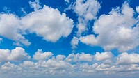 blue sky with clouds wide screen