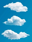 set of isolated picturesque clouds