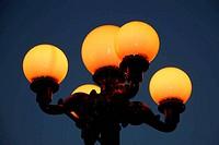 Glowing street lamp