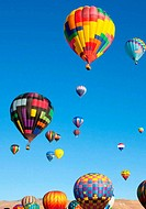 Colorful Hot Air Balloons on a Sunrise Flight