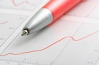 pen on graph
