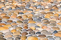 Pebbles stones pavement