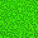 Green abstract image of cubes background