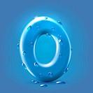 Wet blue glossy font