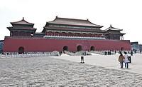 Meridian Gate (Wumen) in Forbidden City, Beijing, China.