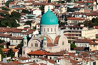 Florence - the view on main Synagogue from the dome Duomo
