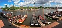 Amsterdam city panoramic view.