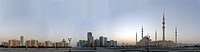 Skyline of Fujairah with New Mosque, United Arab Emirates