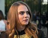 Celebrities attend the Burberry 'London in Los Angeles' event at Griffith Observatory. Featuring: Cara Delevingne Where: Los Angeles, California, Unit...