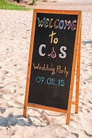 welcome label for wedding ceremony