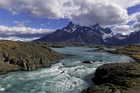 Stream, Torres del Paine National Park, Chilean Patagonia, Chile.