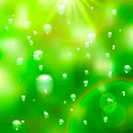 Water drops on green background. plus EPS10