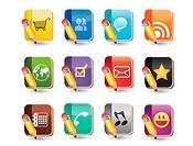 Social Media of Book Icon Set