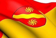 Flag of Warendorf, Germany.