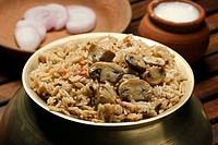 Mushroom Biryani - A vegetarian Biryani