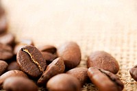 Coffee Beans. Selective Focus