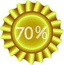 Yellow Vector Label-70%