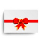 Red Centre Ribbon White Coupon
