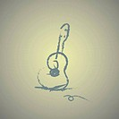hand drawn acoustic guitar