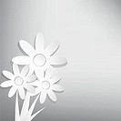 Vector abstract spring background with white flower