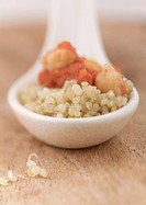 Quinoa with spicy chickpeas