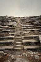 Turkey, Aphrodisias, antiquity, ruin, amphitheatre, stone stairs,