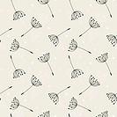 dandelions seamless pattern