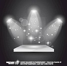 Magic Spotlights with light rays and glowing effect