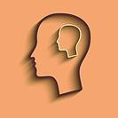 silhouette of a man head