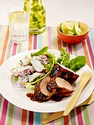 Veal filet mignon with potato salad