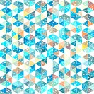 pattern geometric with triangle and plant elements