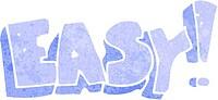 cartoon easy sign