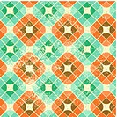 Vintage decorative seamless pattern, geometric abstract backgrou