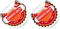 Vector guaranteed quality stickers